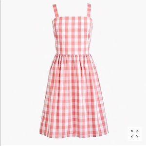 J. Crew pink gingham dress